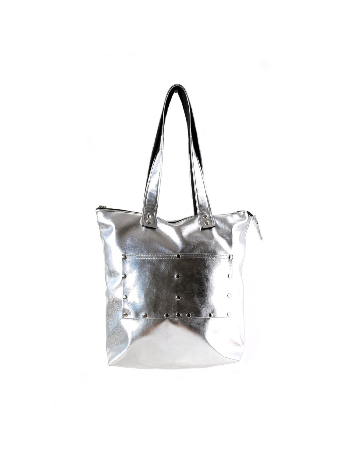 ysl mens backpack - Popular items for silver leather tote on Etsy