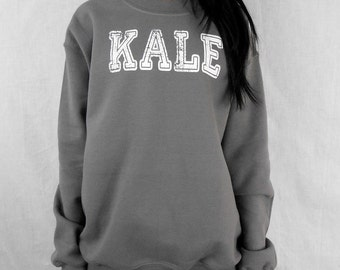 Kale Sweatshirt. Kale Crew Neck Sweater. Kale Shirt. Flawless Sweatshirt. Woke Up Like Dis. Kale University Sweatshirt. KALE Sweatshirt.