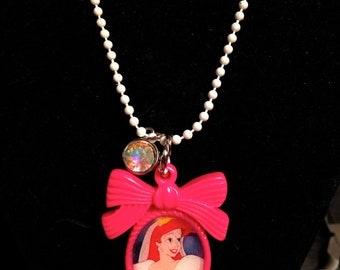 Princess Ariel's Wedding Dress BOW Bezel Necklace