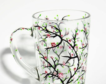 Cherry Blossoms Mug, Mothers Day Gifts, Spring Wedding Gift Mug for her