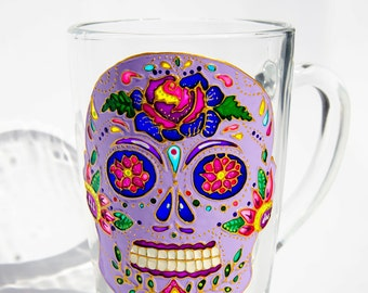 Mexican Skull Mug, Sugar Skull, Day of the Dead