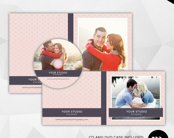 Cd/Dvd Single Case & Disc Label Template for Photographer - INSTANT DOWNLOAD - CD001