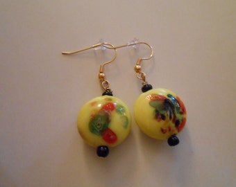 Bright Glass Beaded Earrings Item No. 34