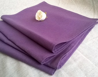 Linen napkins, purple napkins, purple linen napkins, set of 4 purple linen napkins, kitchen decor, gift, kitchen linens