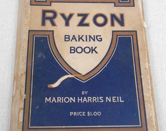 Vintage Ryzon Baking Book by Marion Harris Neil Baking Powder Premium