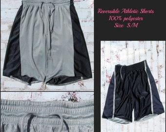 Basketball shorts, unisex shorts, reversible athletic wear,polyester shorts, 90's summer shorts,   size S / M shorts,   # 52