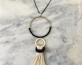 No. 5 // Fiber Necklace // Tassel Necklace