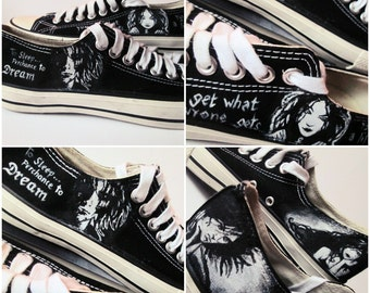 Custom handpainted sneakers, The Sandman Fanart Shoes, personalized shoes