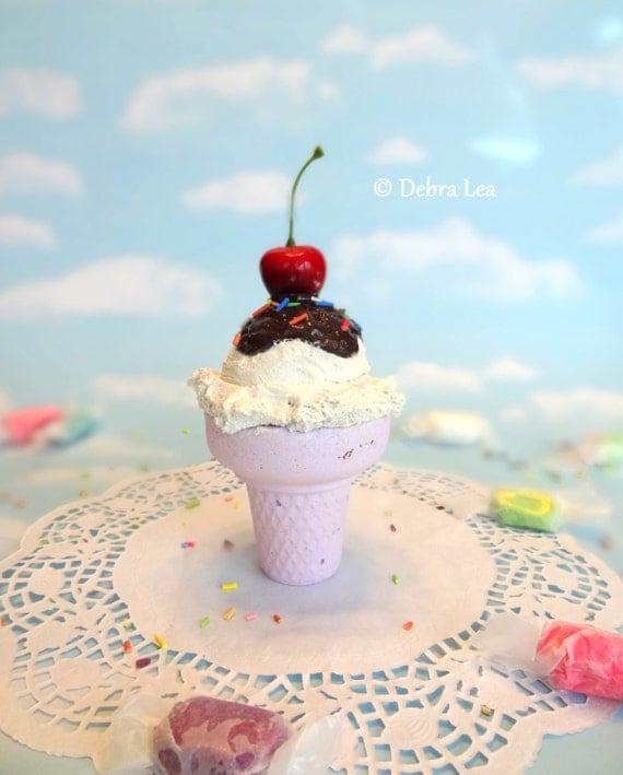 Fake Ice Cream Realistic Beautiful Gourmet Faux Scoop Cone
