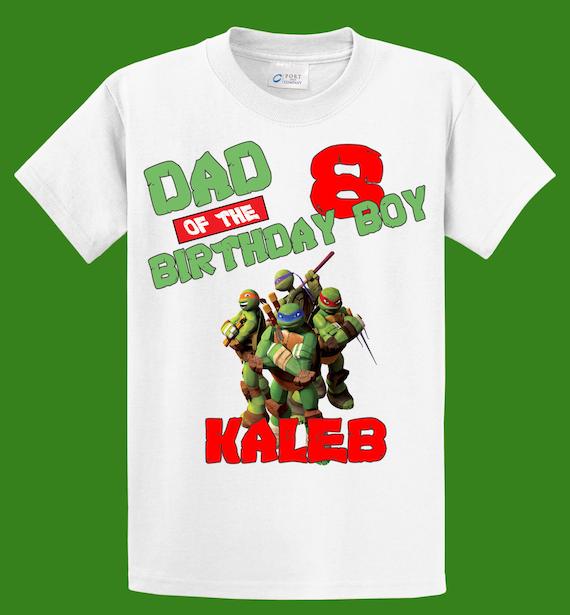 TMNT Mom / Dad of the Birthday Boy/Girl Shirt -Teenage Mutant Ninja Turtles