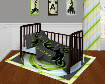 Motocross Crib Bedding