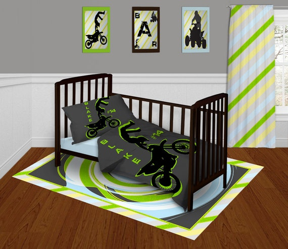 Items Similar To Motocross Bedding Set Toddler Dirt Bike