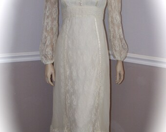 Handmade Vintage Cotton Wedding Dress