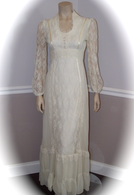 Handmade Vintage Cotton Wedding Dress