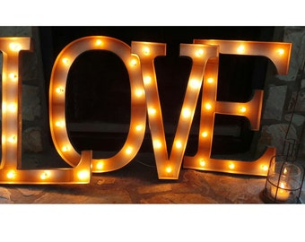 "24"" LOVE Light Up Plug In Marquee Sign"