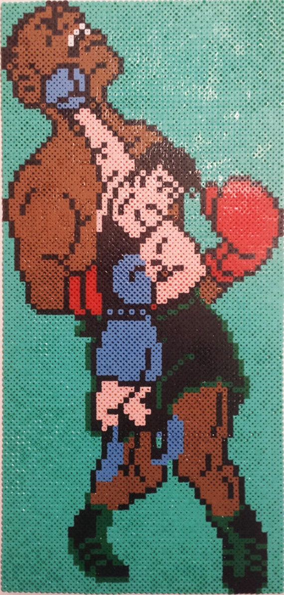 Punch-Out Mike Tyson Vs. Little Mac Bead Sprite