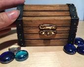 LAST ONES!! Rustic Mini Pirate Treasure Chest