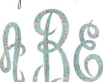 Empress Monogram Iron on decal
