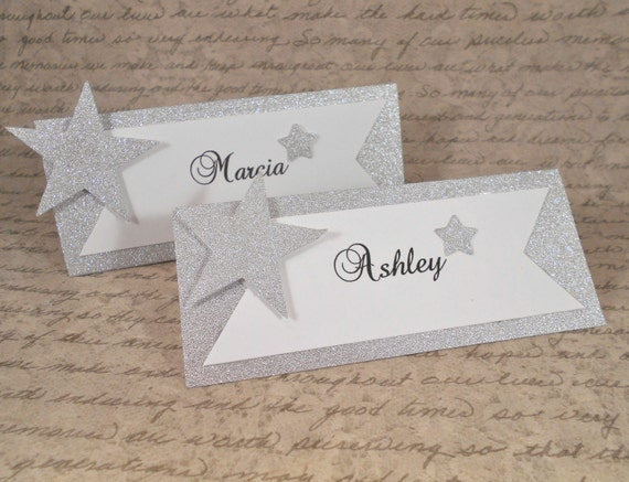 Place cards wedding name cards custom escort by angelsofheaven for Personalized wedding place cards