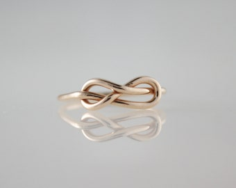 Infinity Knot Ring, Copper Infinity Ring, Bronze Knot Ring, Love Knot, Eternity Ring, Bridesmaid Jewelry