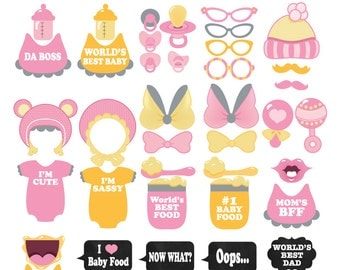 Baby Shower Photo Booth Props Etsy