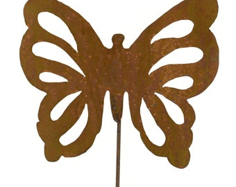 Butterfly Metal Garden Stake, Yard Art GS36