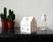 DIY paper house and watertower printable pdf