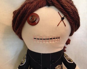 "Creepy n Cute Zombie Doll - ""Officer Bello"" - Inspired by TWD (P & D)"