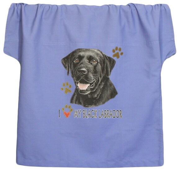Black Labrador Retriever Scrub Shirt Scrub Pants Paw