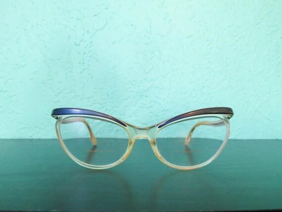 Eyeglass Frames German Made : Vintage Pair of German Plastic Cat Eyeglasses Frame by ...