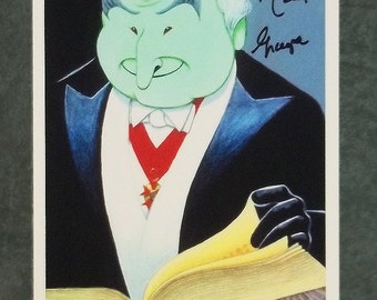 Dave Woodman's THE MUNSTERS art print signed by Al Lewis