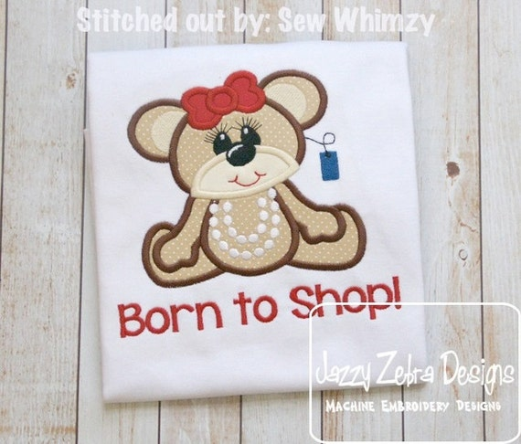 Teddy Bear 4 Sale Appliqué embroidery Design - bear Appliqué Design - sale Appliqué Design - shopping Appliqué Design - girl Applique Design