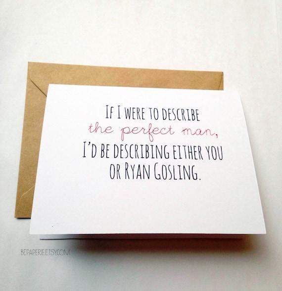 Funny Valentine's Day card / Snarky Valentine / Valentine's Day / Ryan Gosling valentine
