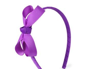 Purple small bow headband, Bow Headband, Girls Headband, toddler headband