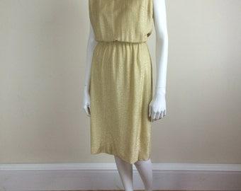 pale gold lurex lamé Donovan Galvani dress 60's