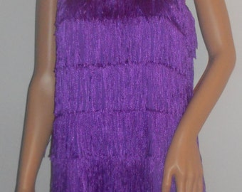 New purple 1920's flapper costume dress costumes SM/MED