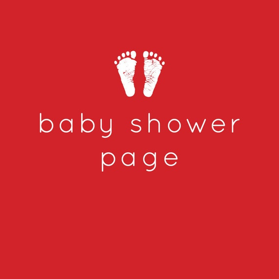 baby shower page modern baby book