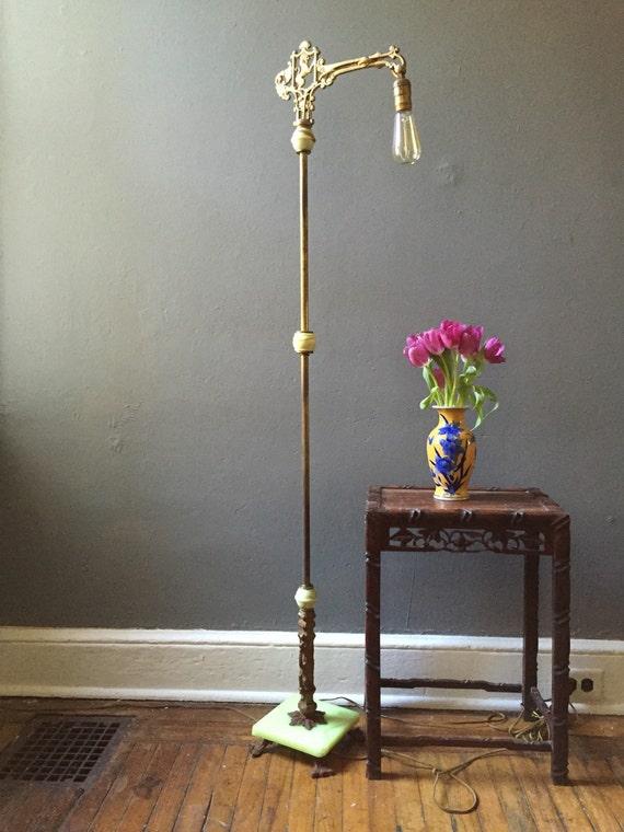 Antique Art Deco Floor Lamp Jadeite And Marble Floor Lamp