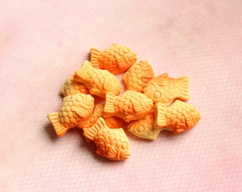 Taiyaki Fish Cabochons Flatbacks Embellishments Kawaii Decoden