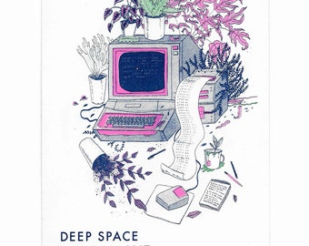 Deep Space House Plant art zine