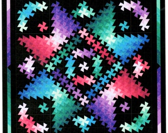"""NOW ON SALE!  Twister Shimmer Quilt Kit 41"""" x 41"""""""