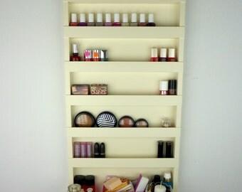 Cream Nail Polish Rack   Make Up Organizer   Bathroom Storage   Wall  Hanging   6