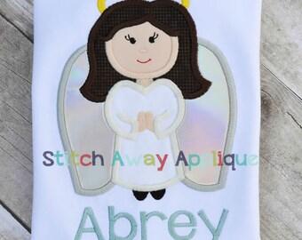 Angel Girl Machine Applique Design