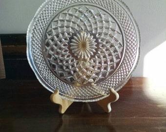 Vintage crystal appetizer platter