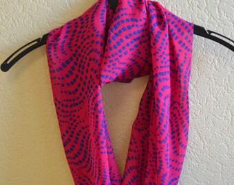 "Silk chiffon infinity scarf  ""JASQUELINE"" - Circle scarf for women - circle scarves"