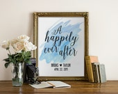 """Happily Ever After Print, Wedding Gift, Custom Print, quote print, Anniversary Print, wedding print, Typography, Quote, """"Print"""""""