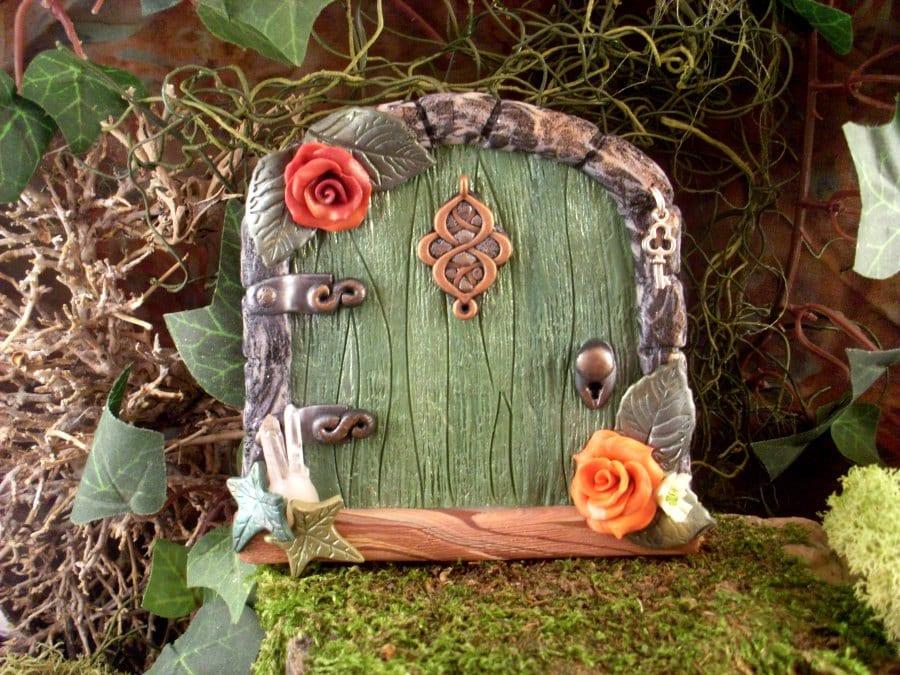 Magic fairy door real quartz crystals orange roses fairies for The magic fairy door