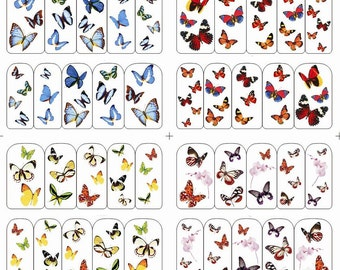 Nail Art Water Transfer - Butterflies, Set of 4