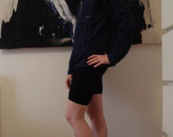 90s denim hooded hoodie zip long sleeve top Freshjive XS or S.