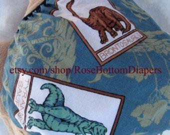 dinosaur cloth diaper cover, waterproof PUL, small, medium, large